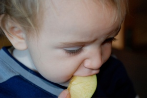 Baby Weston Loves Apple