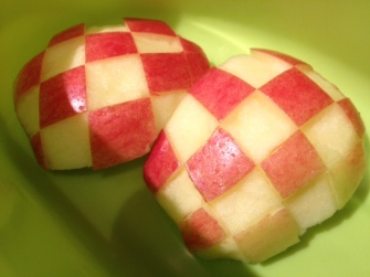 checkerboard apples
